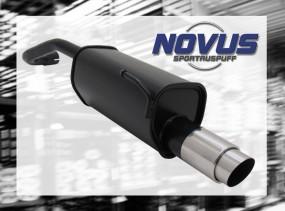 Novus Endschalldämpfer 1 x 90mm GP-Design VW Lupo Volkswagen Lup