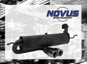 Novus Endschalldämpfer 2 x 76mm M-Design (mittig) Smart Coupe /