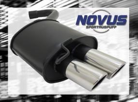 Novus Endschalldämpfer 2 x 76mm SR-Design BMW E90 / E91 BMW E90
