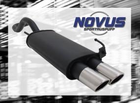 Novus Endschalldämpfer 2 x 76mm SR-Design VW Polo IV Facelift Vo