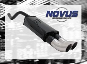 Novus Endschalldämpfer 2 x 76mm DTM Fiat Punto II Fiat Punto II