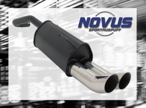 Novus Endschalldämpfer 2 x 76mm DTM VW Lupo Volkswagen Lupo 6X
