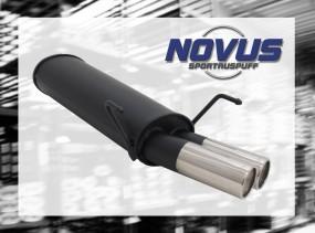Novus Endschalldämpfer 2 x 76mm M-Design 306 Peugeot 306 7/7A/D/