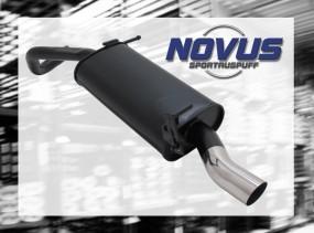 Novus Endschalldämpfer 1 x 60mm S-Design VW Polo V Facelift Volk