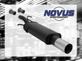 Novus Endschalldämpfer 1 x 90mm RL-Design 307 Peugeot 307 3A/C