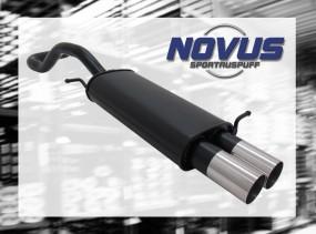 Novus Endschalldämpfer 2 x 76mm RL-Design Seat Ibiza Seat Ibiza
