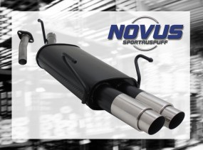 Novus Endschalldämpfer 2 x 76mm GP-Design Opel Astra G Caravan O