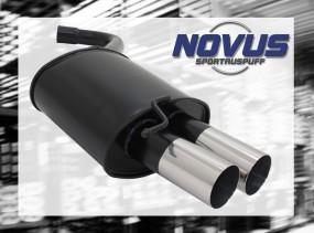 Novus Endschalldämpfer 2 x 76mm RL-Design BMW E90 / E91 BMW E90