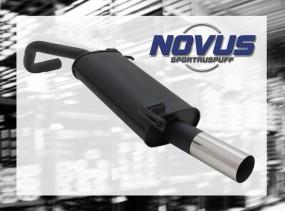 Novus Endschalldämpfer 1 x 76mm RL-Design VW Polo V Facelift Vol
