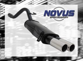 Novus Endschalldämpfer 2 x 76mm M-Design Fiat Punto IV Fiat Punt