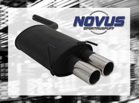 Novus Endschalldämpfer 2 x 90mm CLK-Klasse inkl. Cabrio Mercedes