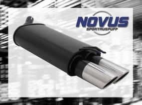 Novus Endschalldämpfer 2 x 76mm SR-Design Renaul Twingo Renault