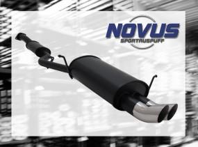 Novus Endschalldämpfer 2 x 76mm DTM BMW E36 Compact BMW E36 Comp