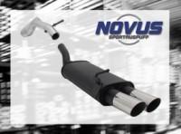 Novus Endschalldämpfer 2 x 76mm MS-Design VW Golf IV Volkswagen