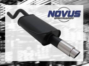 Novus Endschalldämpfer 1 x 76mm GP-Design Clio II Renault Clio I