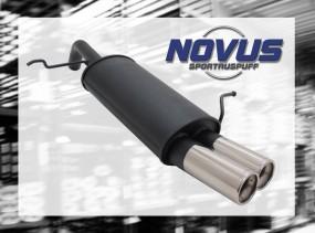 Novus Endschalldämpfer 2 x 76mm M-Design Ford Fiesta Ford Fiesta