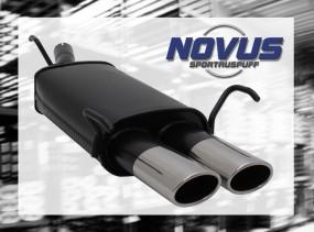 Novus Endschalldämpfer 2 x 85/58mm AM-Design Opel Astra G Fleißh