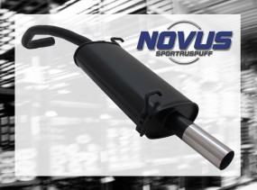 Novus Endschalldämpfer 1 x 60mm Skoda Fabia Skoda FABIA 6Y2