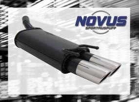 Novus Endschalldämpfer 2 x 76mm SR-Design Opel Corsa B Opel CORS