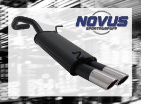 Novus Endschalldämpfer 2 x 76mm SR-Design Seat Ibiza Seat Ibiza