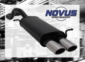Novus Endschalldämpfer 2 x 85/58mm AM-Design Seat Ibiza Seat Ibi