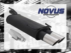 Novus Endschalldämpfer 2 x 76mm MS-Design Opel Kadett E Cabrio O