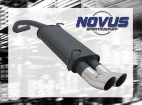 Novus Endschalldämpfer 2 x 76mm DTM Skoda Fabia Skoda FABIA 6Y2