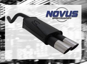 Novus Endschalldämpfer 2 x 76mm MS-Design Fiat Punto II Fiat Pun