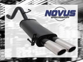 Novus Endschalldämpfer 2 x 85/58mm AM-Design Fiat Grande Punto F