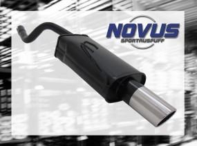 Novus Endschalldämpfer 1 x 90mm SR-Design Fiat Punto II Fiat Pun