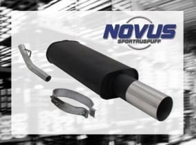 Novus Endschalldämpfer 1 x 90mm RL-Design Opel Vectra A Opel Vec