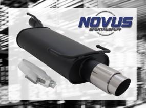 Novus Endschalldämpfer 1 x 90mm GP-Design Opel Kadett E Cabrio O