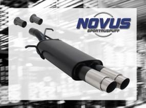 Novus Endschalldämpfer 2 x 76mm GP-Design 307 Peugeot 307 3A/C