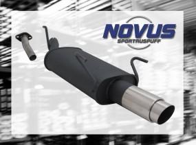Novus Endschalldämpfer 1 x 90mm GP-Design Opel Astra G Caravan O