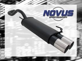 Novus Endschalldämpfer 2 x 90mm RL-Design VW Polo IV Facelift Vo