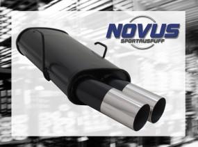 Novus Endschalldämpfer 2 x 76mm RL-Design 106 Peugeot 106 1A/1C/