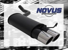 Novus Endschalldämpfer 2 x 90mm SR-Design 190E Mercedes 190E W20
