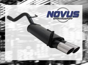 Novus Endschalldämpfer 2 x 76mm MS-Design Opel Corsa D Opel CORS