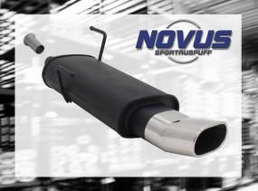 Novus Endschalldämpfer 75 x 135mm DTM 206CC Peugeot 206CC 2AC/2D