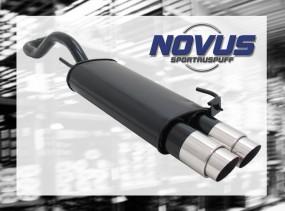 Novus Endschalldämpfer 2 x 90mm GP-Design VW Polo IV Facelift Vo