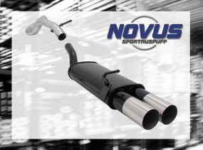 Novus Endschalldämpfer 2 x 90mm RL-Design VW Golf IV Volkswagen
