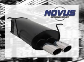 Novus Endschalldämpfer 2 x 85/58mm AM-Design BMW E46 Touring BMW