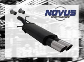 Novus Endschalldämpfer 2 x 76mm MS-Design 307 Peugeot 307 3A/C