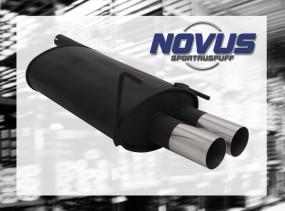 Novus Endschalldämpfer 2 x 76mm RL-Design CLK-Klasse inkl. Cabri