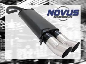 Novus Endschalldämpfer 2 x 90mm DTM Skoda Fabia Skoda FABIA 6Y2
