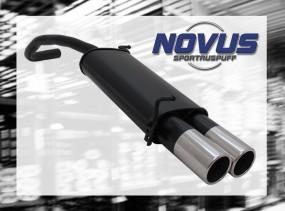 Novus Endschalldämpfer 2 x 90mm M-Design Skoda Fabia Skoda FABIA
