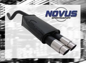 Novus Endschalldämpfer 2 x 76mm GP-Design Fiat Punto II Fiat Pun
