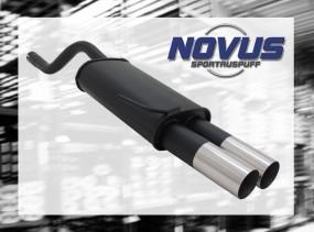 Novus Endschalldämpfer 2 x 76mm RL-Design Clio II Renault Clio I