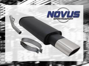 Novus Endschalldämpfer 75 x 135mm Opel Vectra A Opel Vectra A A/