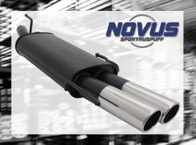Novus Endschalldämpfer 2 x 76mm SR-Design Opel Astra F Cabrio Op